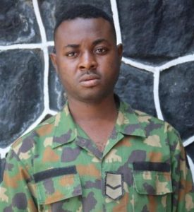 Lance Corporal Ajayi Kayode, alleged Yahoo yahoo soldier