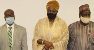 Dabiri-Erewa and other members of IDB, IOM