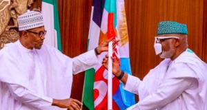 President Buhari with Gov. Akeredolu