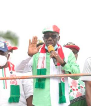 Godwin Obaseki's campaign train
