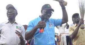 Oshiomhole, Obaseki and Shaibu during the 2015 election campaign