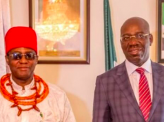Obi of Benin and Goc. Obaseki