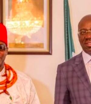 Obi of Benin and Goc. Obaseki