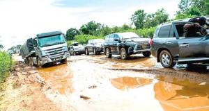 One of the bad federal roads in Kogi