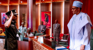 Mohammed Adamu, with President Buhari
