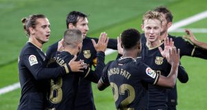 Barcelona team celebrate