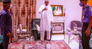 Osinbajo, Buhari and IGP Adamu