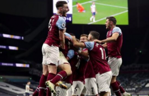 Lanzini's strike, his first goal since May 2019, sparked wild West Ham celebrations at White Hart Lane