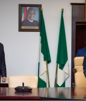 Thomas Brechbuhl and Yemi Osinbajo