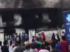 Gershom Bassey's family house on fire