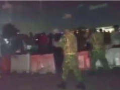 Soldiers allegedly disrupting #EndSARS protest in Lekki