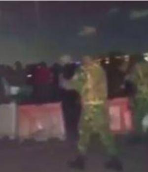 Soldiers allegedly disrupting #EndSARS protest in Lekki
