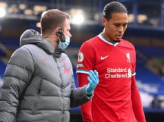 Injured Virgil van Dijk