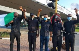 Some Jesuits Reverend Fathers at the Surulere, Lagos ENDSARS protest