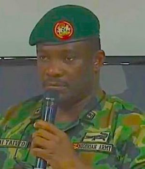 Ahmed Taiwo, commander of the 81 division of the Nigerian Army