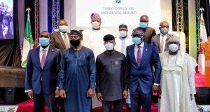Lagos team at the unveiling of rebuilding Lagos