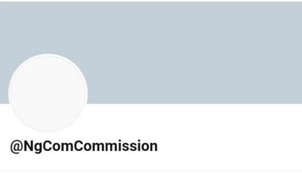 NCC Twitter handle