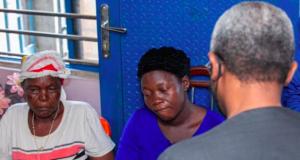 Femi Gbajabiamila (backing the camera) during his condolence visit