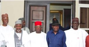 Some APC leaders with Goodluck Jonathan