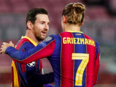 Lionel Messi and Antoine Griezmann