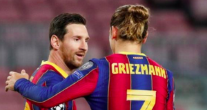 Lionel Messi and Antoine Griezmann
