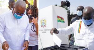 President Nana Addo Akufo-Addo of the ruling New Patriotic Party (NPP) and ex-President John Dramani Mahama