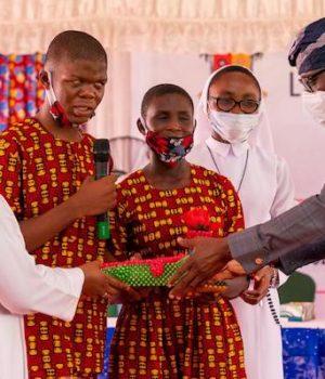 Gov. Sanwo-Olu and some disabled
