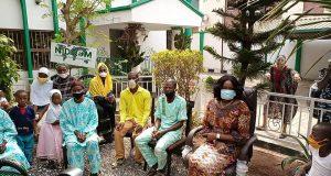 Family of Suleiman storm NIDCOM office in Lagos