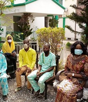 Family of Suleiman storm NIDCOM office in Lagos