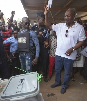John Dramani Mahama during the polls