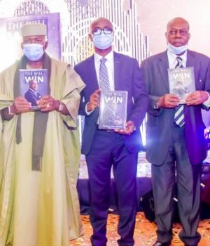 Shobanjo, Chairman, Troyka Holdings; Chief Launcher, Chief Oladele Fajemirokun; author, Dotun Adekanmbi; reviewer, Ray Ekpu and Pastor Tunde Bakare