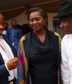 Efiong Akwa; Rivers State Deputy Governor, Dr. Mrs. Ipalibo Harry Banigo and the Permanent Secretary Ministry of Niger Delta Affairs, Dr Babayo Ardo