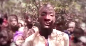 Boko Haram with some of the abducted students