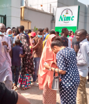 Subscribers storm NIMC office