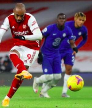 Lacazette led Arsenal's assault against Chelsea