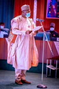 Prof. Mahmoud Yakubu takes oath of office