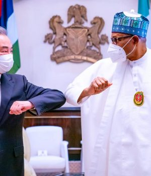 President Buhari receives in audience Wang Yi, State Councillor and Foreign Minister of the People's Republic of China