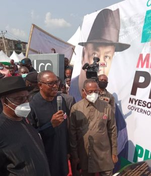 Peter Obi commissions project in Rivers