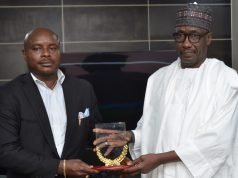 Ayodele Amina, MD/EiC of New Telegraph with NNPC MD, Kele Kyari