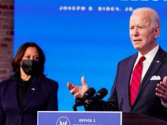 U.S President-elect Joe Biden and his pep. Kamala Hafrris