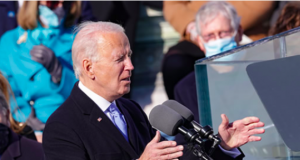 US President Joe Biden gives an inaugural address after being sworn in as the 46th president.