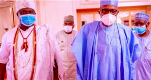 Oba Adeyeye Ogunwusi with President Buhari