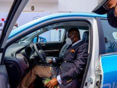 Gov. Sanwo-Olu testing the new vehicle