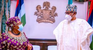 Ngozi Okonjo-Iweala with President Buhari