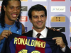 Joan Laporta welcomed the likes of Ronaldinho to the club during his first reign as president