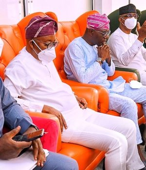 South west governors at Nnamdi Azikwe International Airport