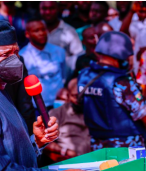 Prof. Osinbajo addresses sympathisers