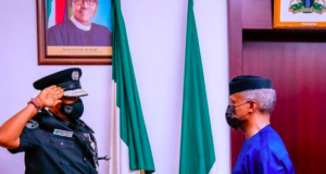 VP Yemi Osinbajo decorates Usman Alkali Baba