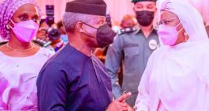 Yemi Osinbajo with Aisha Buhari