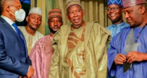 Gov. Ganduje with Aliko Dangote and Abdul Samad Rabiu,